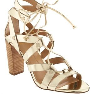 Banana republic eryn heeled sandals size 7